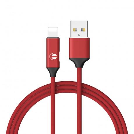 Câble USB avec prise Lightning - Rouge