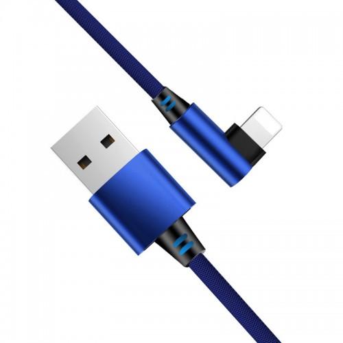 Câble Lightning Coude - Bleu