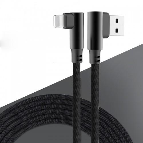Câble Lightning Coude  - Noir