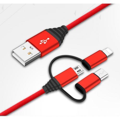 Câble 3 en 1 Micro USB/...