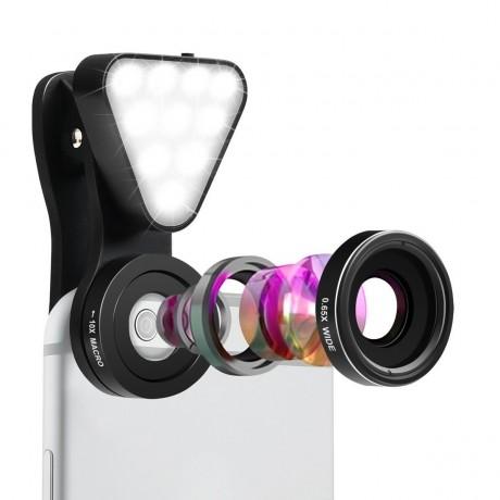 Objectif 15 niveaux pour Smartphone avec flash