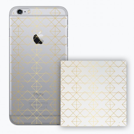 PACK PowerBank 2600MAH + Coque rigide transparente pour iPhone 6/6S - Gold
