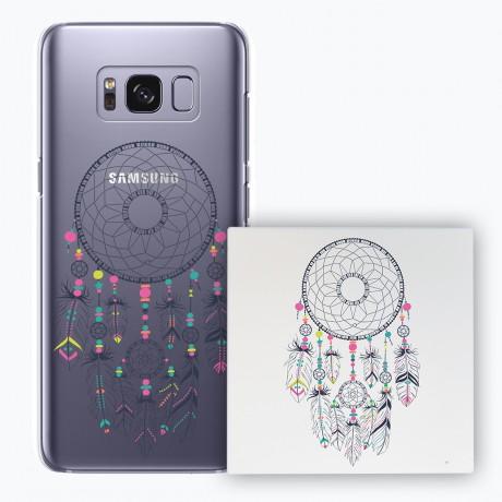 PACK PowerBank 2600MAH + Coque rigide transparente Samsung Galaxy S8 - Dream Catcher