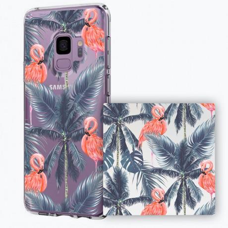 PACK PowerBank 2600MAH + Coque rigide transparente Samsung Galaxy S9 - Tropical
