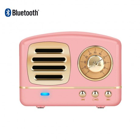 Enceinte Bluetooth rétro 3w - Rose gold