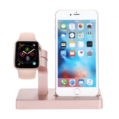 Station de charge 2 en 1 iPhone & Apple Watch - Rose or