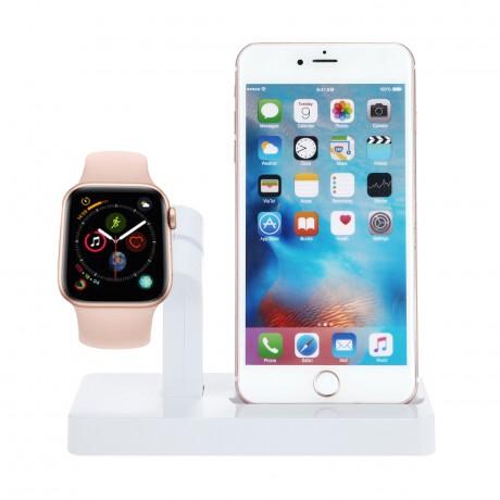 Station de charge 2 en 1 iPhone & Apple Watch - Blanc Artic
