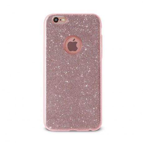 Coque souple pailletée pour iPhone 6/6S - Rose