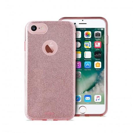 Coque souple pailletée pour iPhone 7/8 - Rose