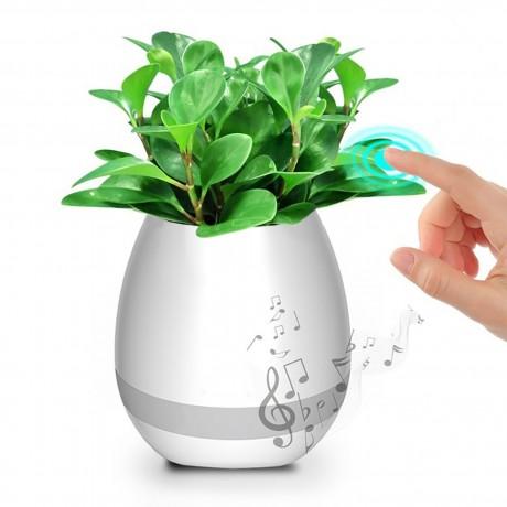 Enceinte Bluetooth Pot de fleur - Blanche (vendu sans la plante)