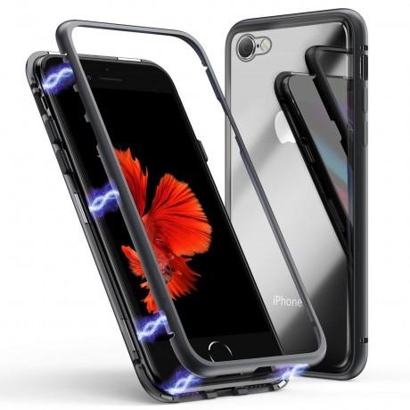 Coque magnétique iPhone 6/6s - Noir mat