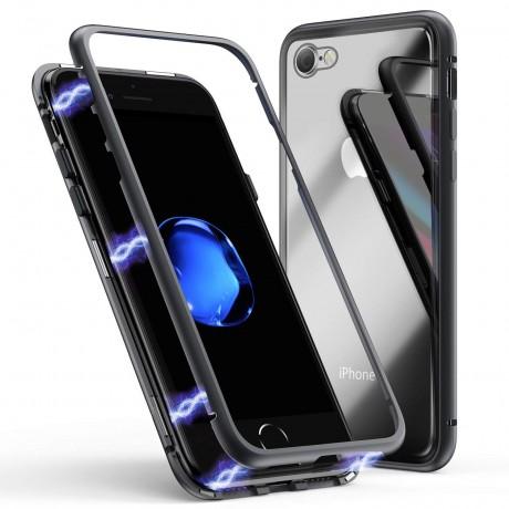 Coque magnétique iPhone 7/8 - Noir mat
