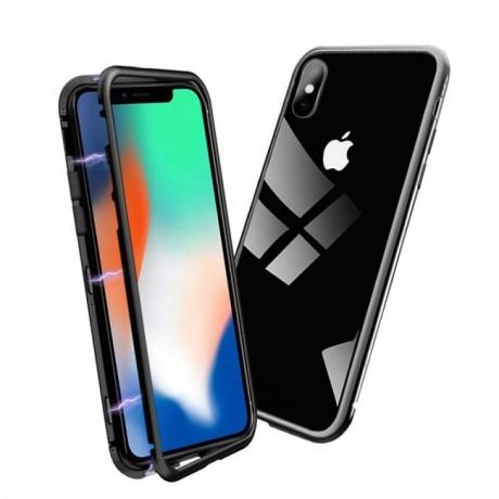 Coque magnétique iPhone X/XS - Noir mat