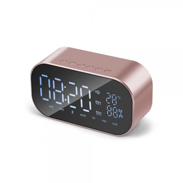 Réveil numérique avec haut parleur Bluetooth stéréo 3W et grand écran LED
