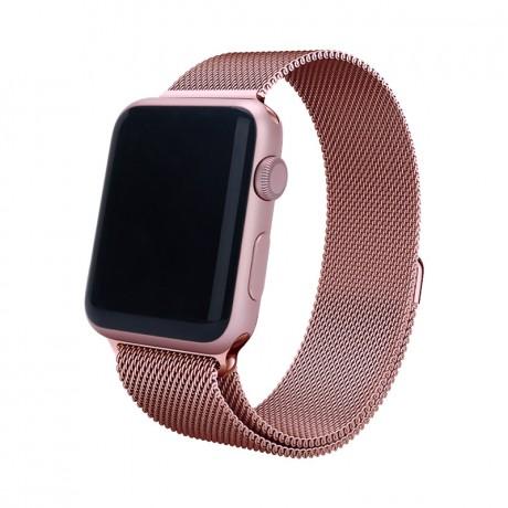 Bracelet milanais pour Apple Watch 42/ 44 mm - Rose or