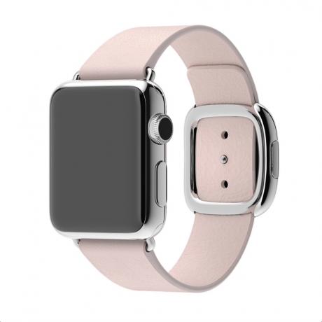 Bracelet similicuir lisse pour Apple Watch 38/ 40 mm - Rose des sables