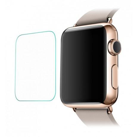 Vitre protectrice avant en verre trempé pour Apple Watch 42 mm - Transparent