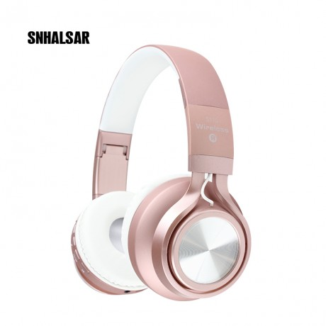 Casque stéréo Bluetooth - Rose or