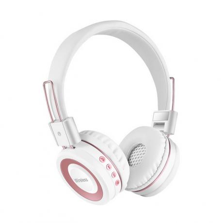 Casque audio Bluetooth - Blanc & rose or