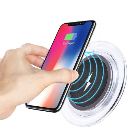 Chargeur à induction sans fil transparent