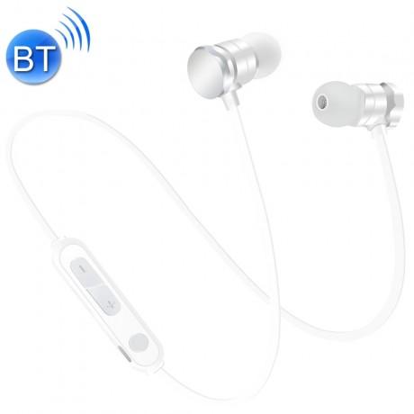 Ecouteurs Bluetooth avec micro integré - Blanc