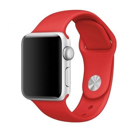 Bracelet souple pour Apple Watch 42/ 44 mm - Rouge