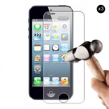 Lot de 3 vitres de protection en verre pour iPhone 5/5S/SE/5C