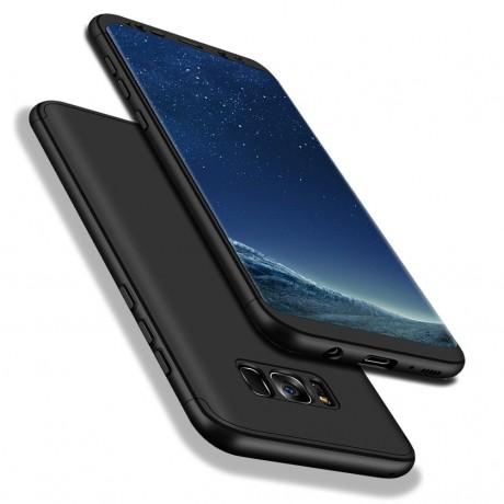 Coque intégrale 360° avec vitre protectrice pour Samsung Galaxy S8 - Noir
