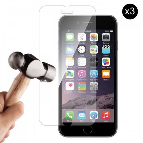 Lot de 3 vitres de protection en verre pour iPhone 6/6S