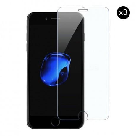 Lot de 3 vitres de protection en verre trempé pour iPhone 7/8