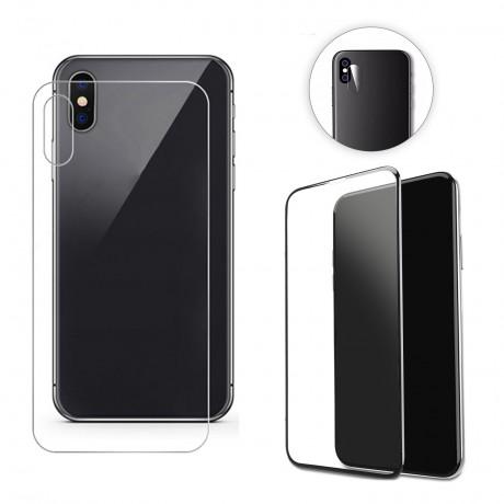 Vitre protectrice intégrale 3 en 1 en verre trempé pour iPhone XS Max