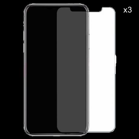 Lot de 3 vitres de protection en verre trempé pour iPhone X