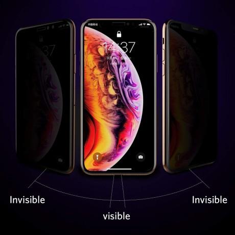 Vitre protectrice anti espion en verre trempé pour iPhone XS MAX