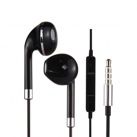 Ecouteurs Jack 3.5mm - Noir & argent