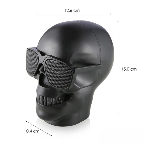 Enceinte Bluetooth SKULL BLACK