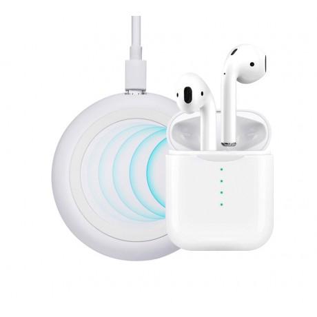 Ecouteurs sans fil binaural avec technologie Bluetooth 5.0 et charge à induction (chargeur fourni)