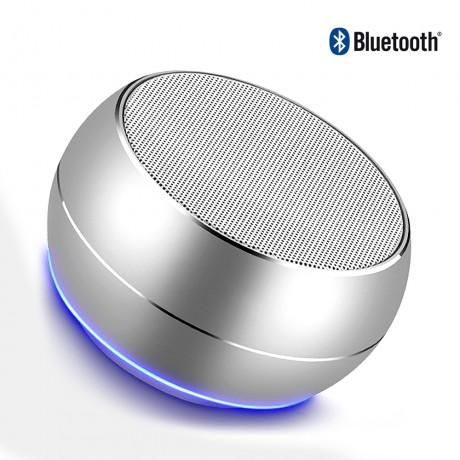 Haut parleur Bluetooth avec lumière LED et microphone intégré - Argent