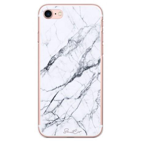 Pack Power Bank 2600 mAh + Coque transparente pour iPhone 7/8 - Marbre blanc