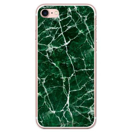 Pack Power Bank 2600 mAh + Coque transparente pour iPhone 7/8 - Marbre vert