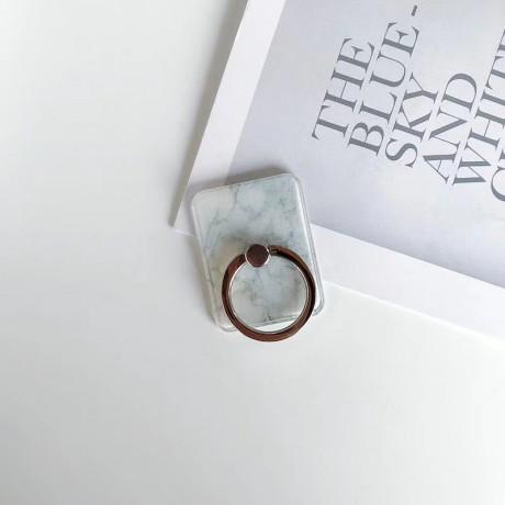 Support anneau universel en métal rotatif 360° - Marbre blanc