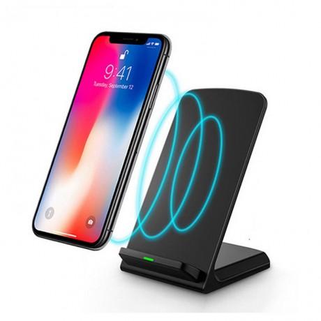 Qi chargeur sans fil à induction rapide avec support - Compatible iPhone 8 (et suivants) et Samsung S6 (et suivants)