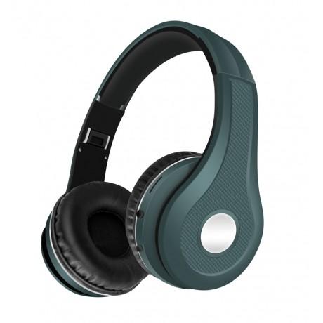 K5 Casque audio Bluetooth avec microphone intégré - Bleu pétrole
