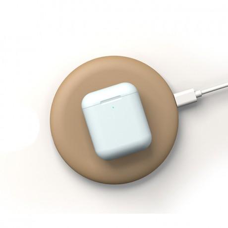 Chargeur à induction sans fil SOFT TOUCH - Abricot
