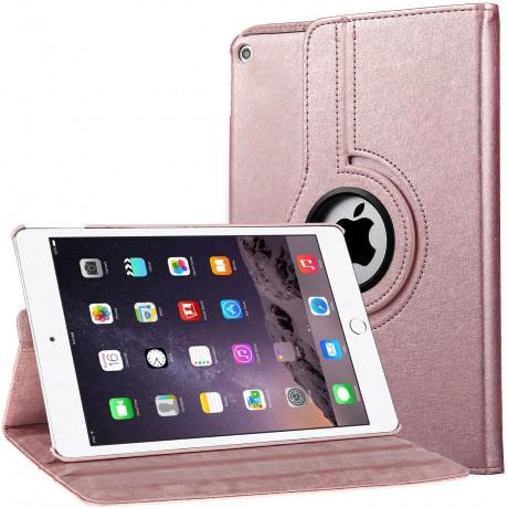 Etui rotatif 360° pour iPad 1/2/3 - Rose or