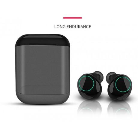 Ecouteur Bluetooth 5.0 sans fil avec microphone intégré - Noir