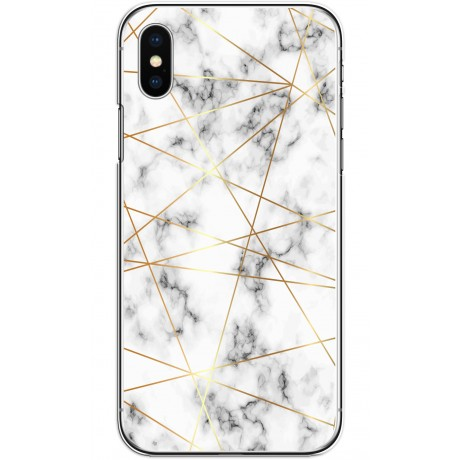 Coque LACOQUE'IN pour iPhone X/XS - Marbre Gold