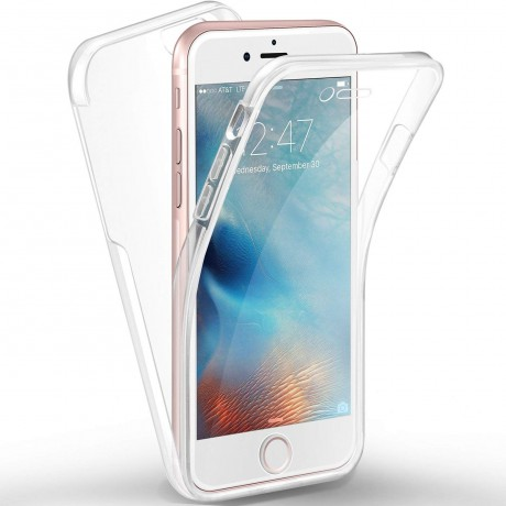 Coque souple intégrale 360° pour iPhone 6/6S  - Transparent