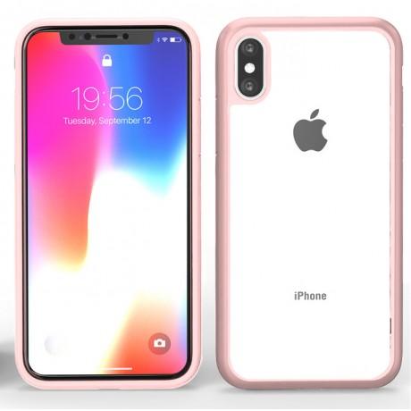 Coque souple pour iPhone X/XS - Bumper rose or