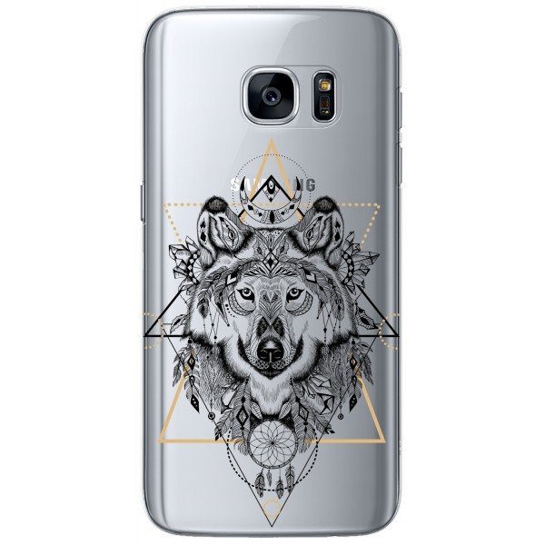 Coque LACOQUE'IN pour Samsung Galaxy S7 Edge - Loup