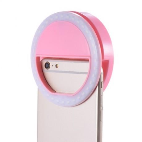 Flash led pour selfie avec batterie intégrée - Rose